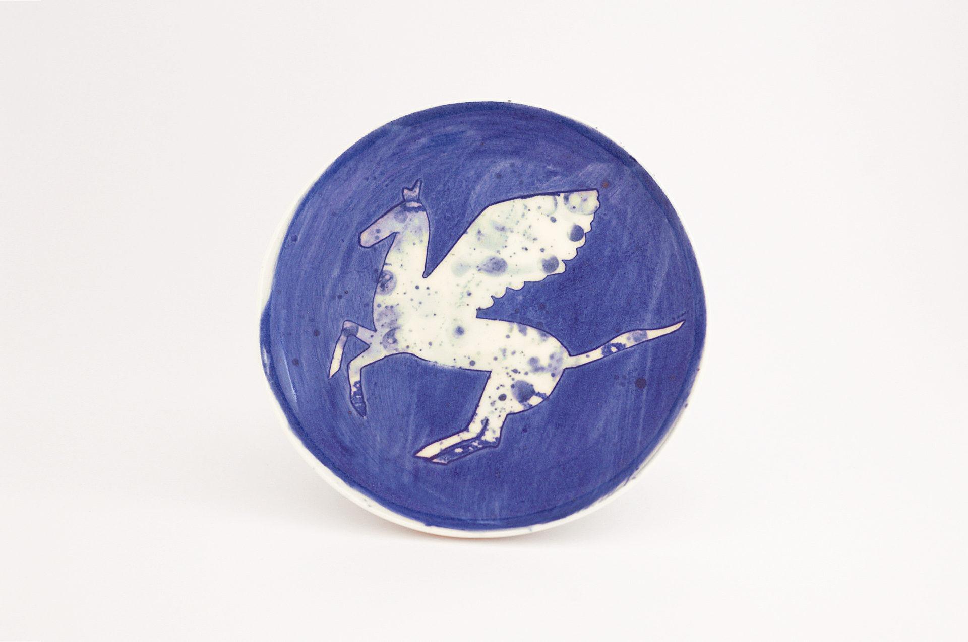 Julie Smeros Ceramics - Pegasus Plate - 2018