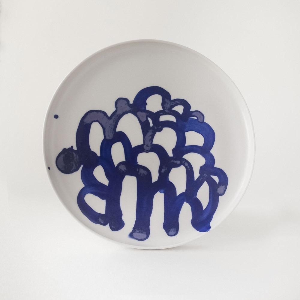 Julie Smeros Ceramics - Blue Hills Plate - 2018