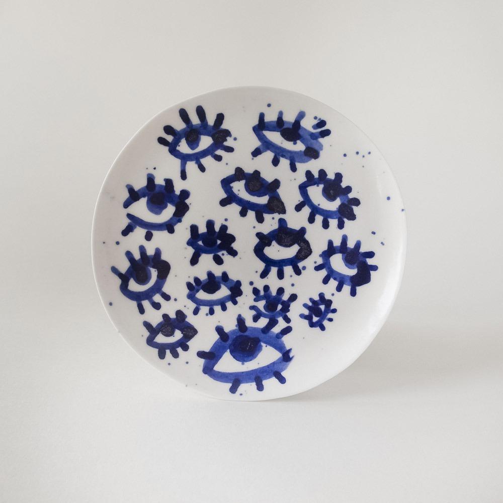 Julie Smeros Ceramics - Eyes Plate - 2018