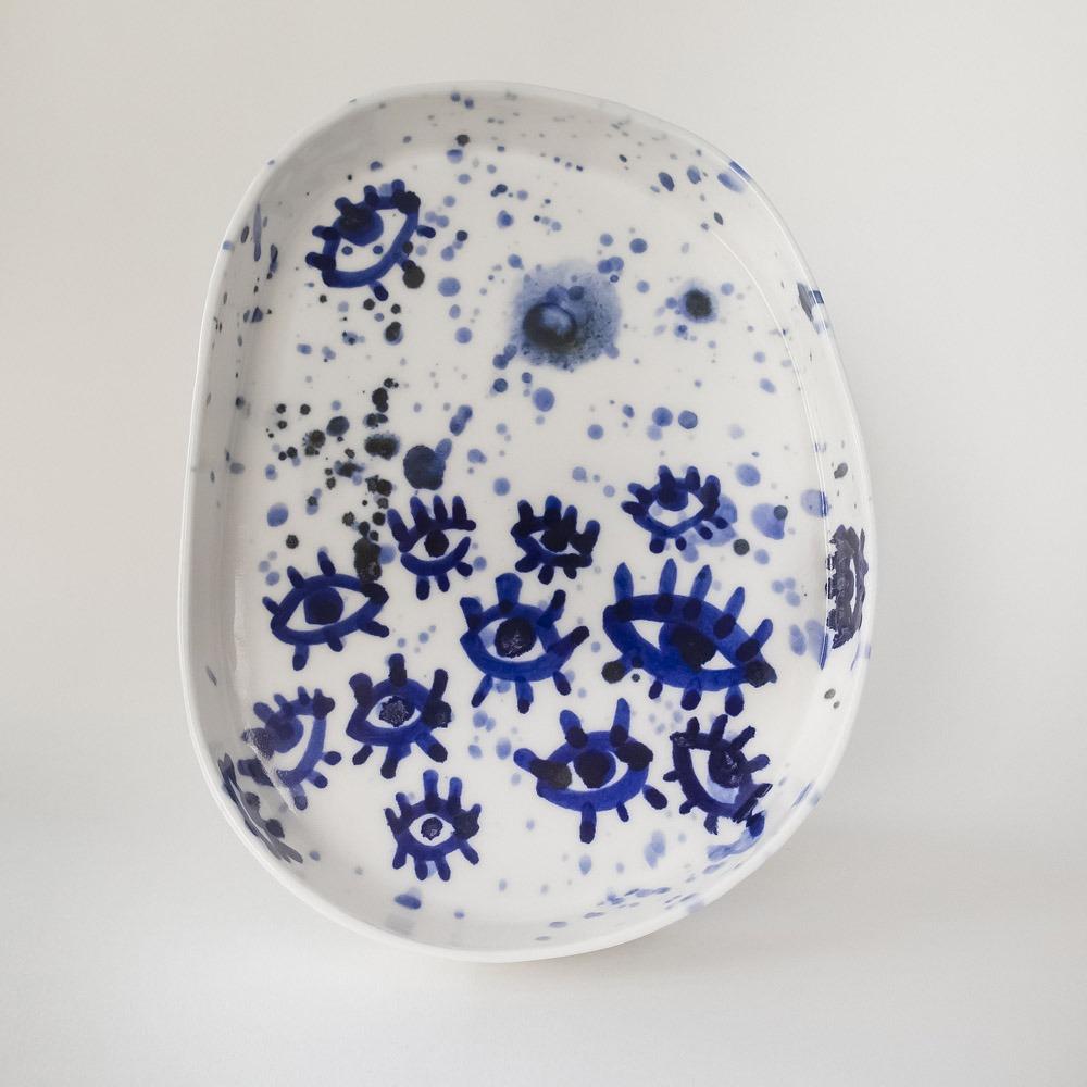 Julie Smeros Ceramics - Owl Plate - 2018