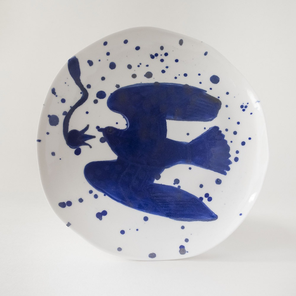 Julie Smeros Ceramics - Bird Plate - 2018